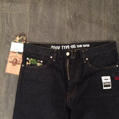 Bape 2008 Type-05 ABC Denim Pant - Slim Taper DS