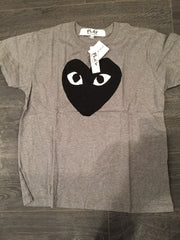 CDG Play heart face tee DS