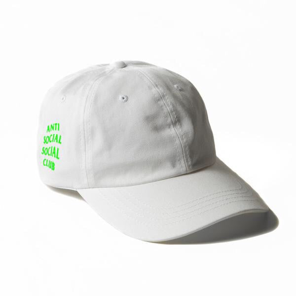 Anti Social Social Club Weird Cap - White Neon DS