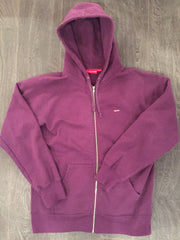 *new* Supreme Zip-up Small Box Logo Pullover (Purple) - Large
