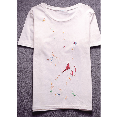 "*new* Chook ""C Splatter"" Embroidered Tee"