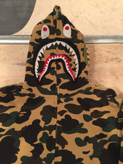 *new* Bape Yellow Camo Shark Hoodie - DS
