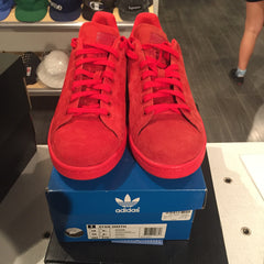 Adidas Stan Smith Mono Red Suede 10