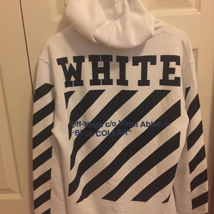 *new* Off-White Blue Collar Hoodie DS Small