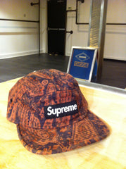 Supreme / Liberty Paisley Camp Cap (Red)
