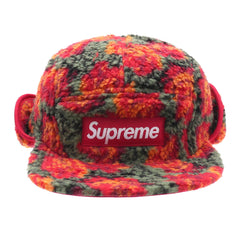 *new* Supreme Sherpa Fleece Roses Ear Flap Hat DS