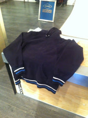 *new* Supreme Striped small-logo Pullover (Navy)