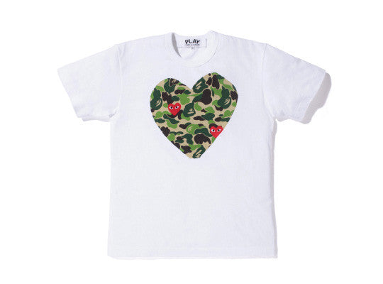 Bape x CDG Play tee - Large DS