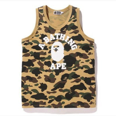 *new* Bape Yellow Camo Tank DS