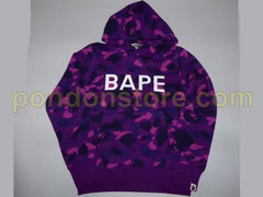 Bape Purple Camo Hoodie DS Medium
