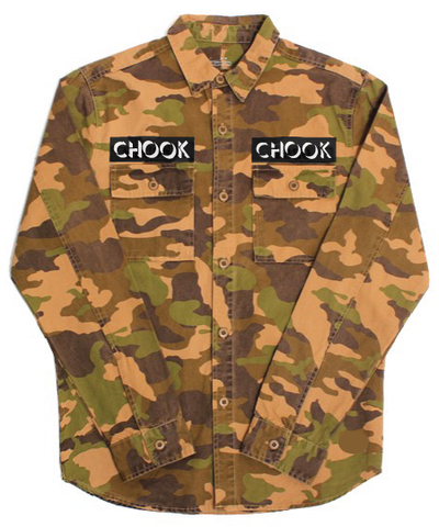 """new"" Dew Camo Button-up Jacket"