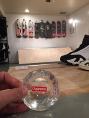 *new* Supreme Diamond Cut Clear Crystal Ashtray DS