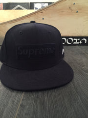 Supreme Tonal Box Logo Fitted - Black DS