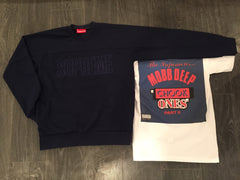 *new* Supreme Track Crewneck - Navy DS