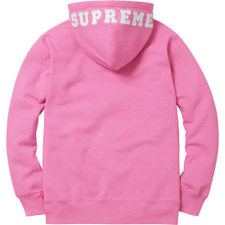 Supreme Felt Hood Logo Zip Up Sweat - Pink XL