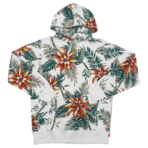 Supreme White Floral Hooded Pullover - SS12