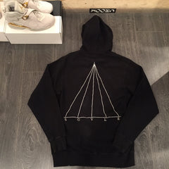 Black Scale Hoodie DS Large