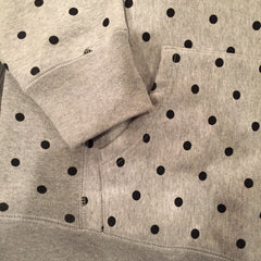 *new* CHOOK Heavyweight Hoodie - Heather Grey Dots