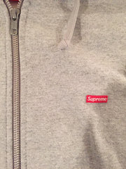 *new* Supreme Zip-up Small Box Logo Pullover (Grey) - Large