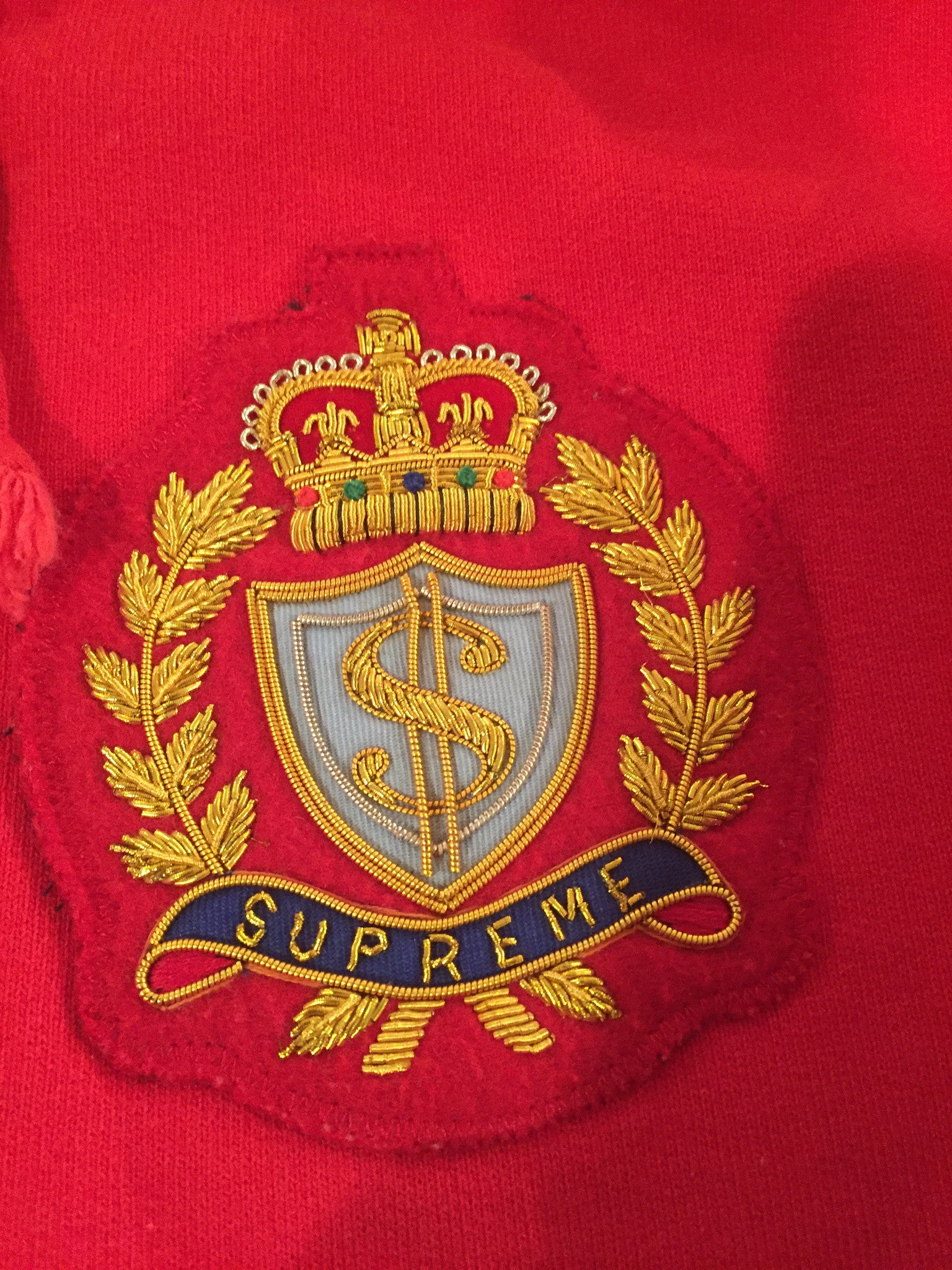 Supreme Crest Zip-Up Pullover - Large
