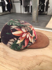Supreme Floral Suede 5 panel camp