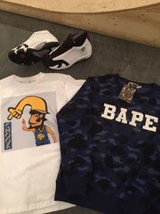Bape Blue Camo Crewneck - DS