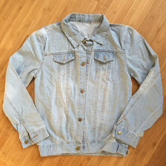 "*new* SHCCK Embroidered ""Majulah"" Denim Jacket - Washed Finish"