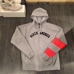 Black Scale Black America Hoodie DS Large