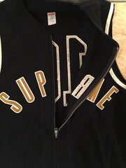 *new* Supreme Sleeveless Zip-Up Baseball Jersey
