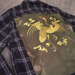 "*new* Chook ""Majulah"" Embroidered Satin Flannel"