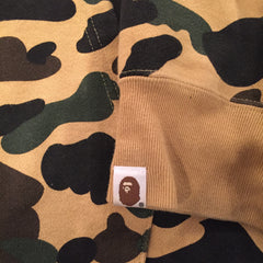 Bape 1st Camo College Pullover Hoodie DS XL - Yellow Camo