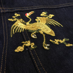 "*new* Chook ""Saburo"" Embroidered Denim Jacket"