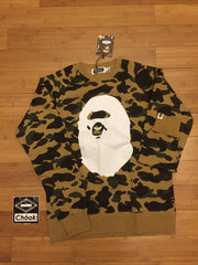Bape 1st Camo Big Ape Head Crewneck - DS
