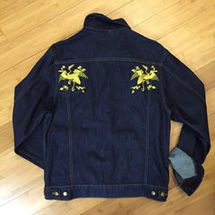 "*new* Chook ""change of other kinds"" Embroidered Denim Jacket"