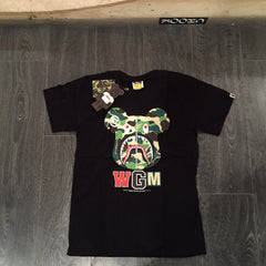 Bape / Bearbrick Shark Face ABC Camo Tee - DS