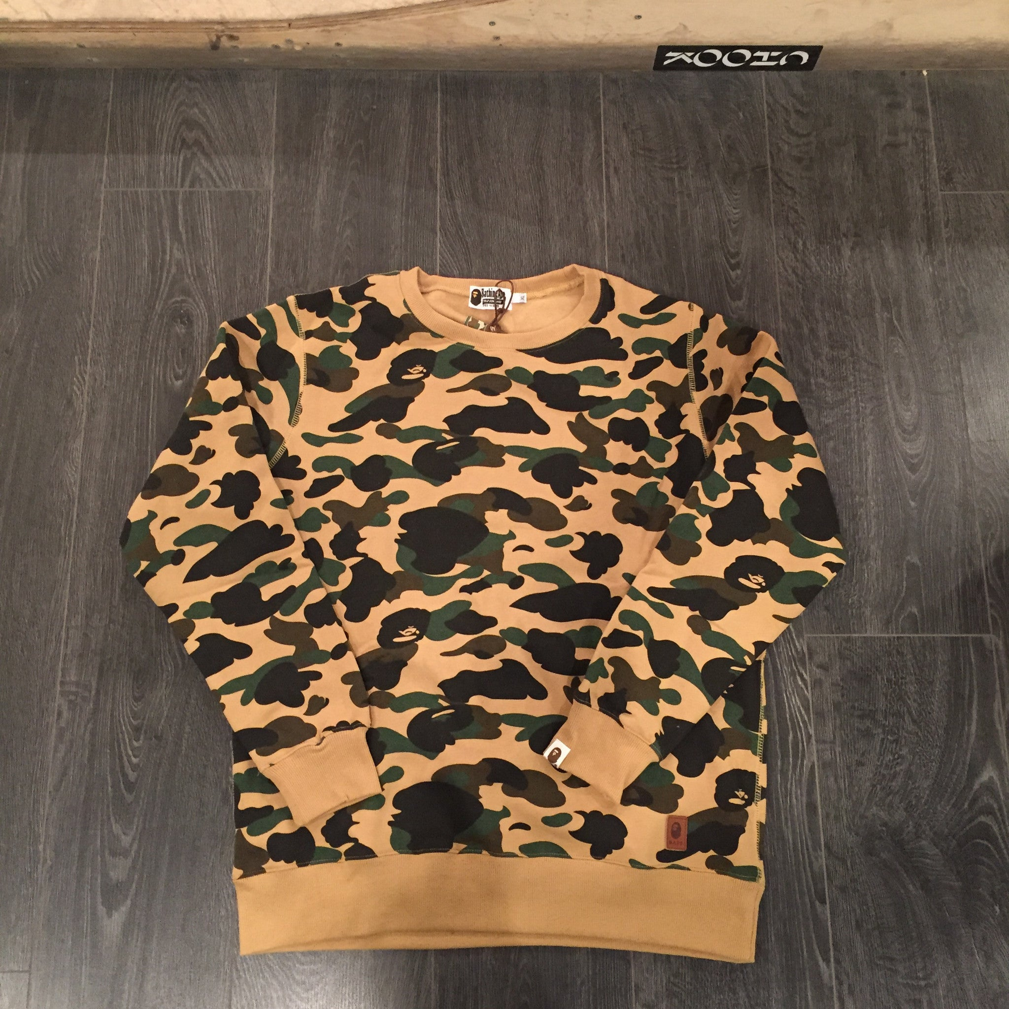 Bape Yellow Camo Crewneck XL - DS
