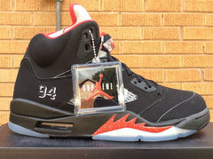 Supreme x AIR JORDAN 5 Retro Black - size 9.5 Brand new DS