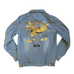 "*new* SHCCK Embroidered ""Majulah"" Denim Jacket"