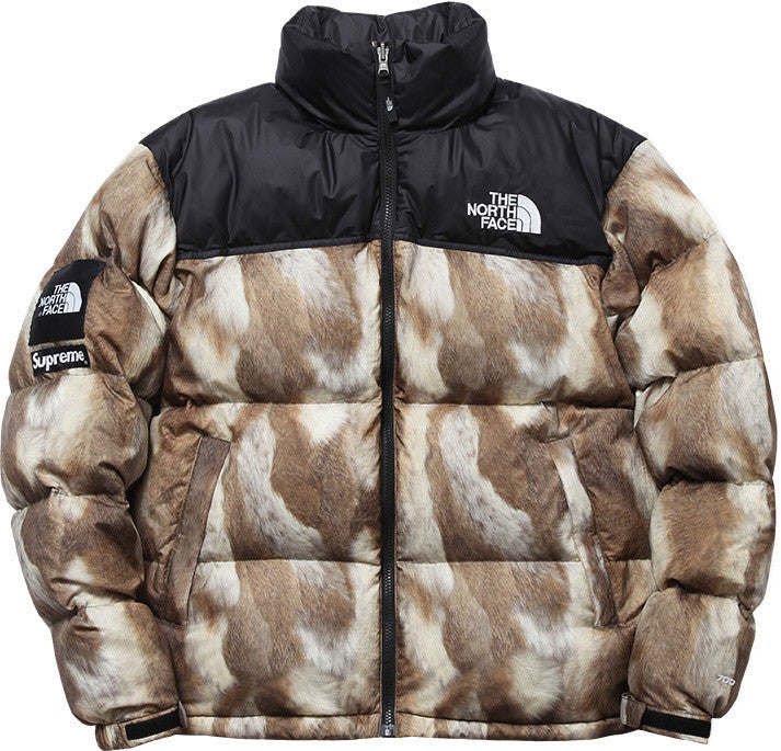 Supreme / TNF Nuptse Down (Fur-Print) - XL