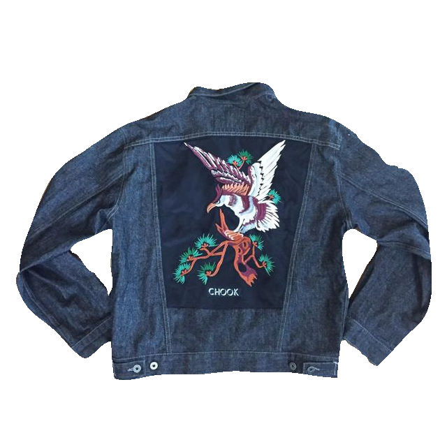 "*new* SHCCK ""Osaka"" Embroidered Denim Jacket"