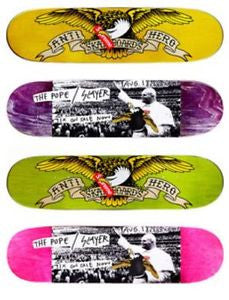 *new* Supreme / Anti Hero The Pope Slayer Skateboard deck DS - 8.25