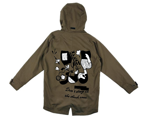 "SHCCK ""Don't Sleep"" Olive Parka"