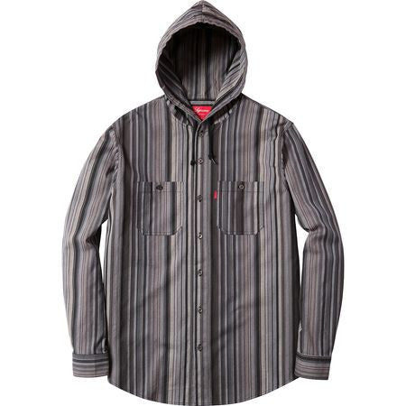 *new* Supreme Striped Madras Hooded Shirt - L DS