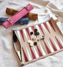 Load image into Gallery viewer, Leather - Backgammon Set
