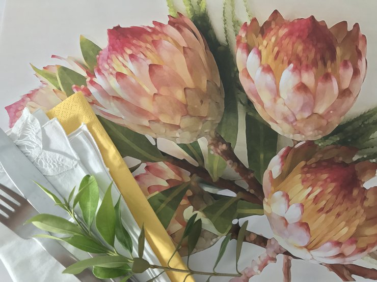 Protea Paper Placemats - Bright