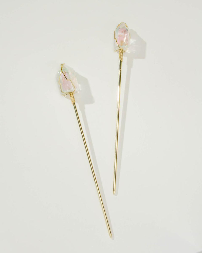 2 for Me None for You Quartz Hair Sticks