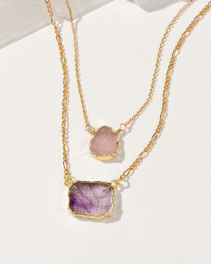 Lavender Fields Layered Necklace