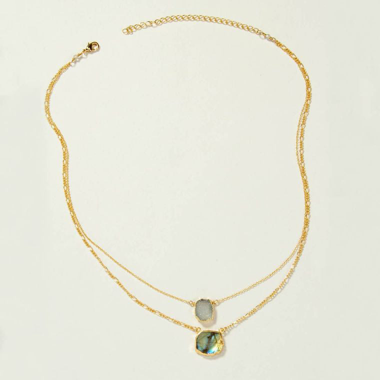 Mint Julep Layered Necklace