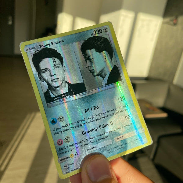 Young Sinatra Logic Pokémon Inspired Custom Holographic Cards