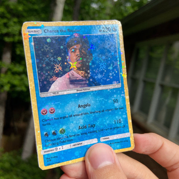 Chance the Rapper Pokémon Inspired Custom Holographic Cards